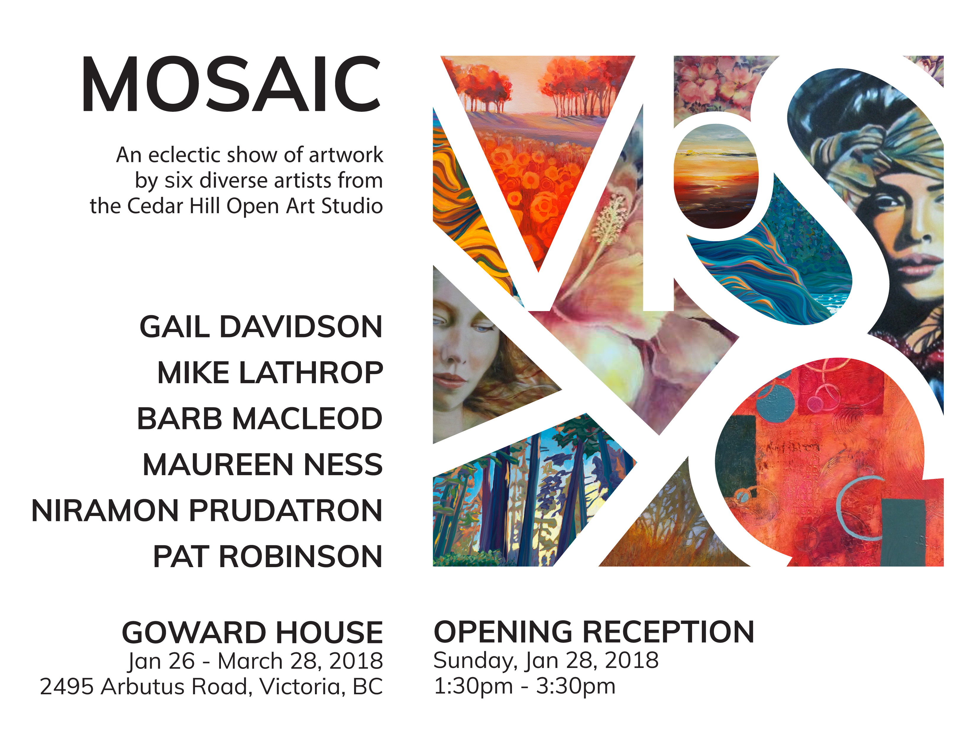 Mosaic Art Show at Goward House – The Feeling of the Place