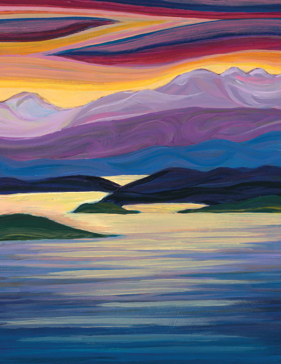greeting card  salt spring island  the feeling of the place